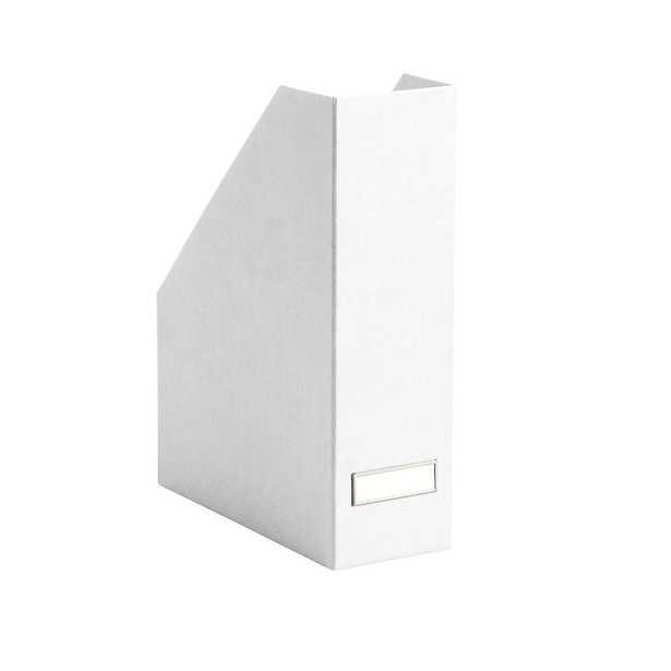 Bigso White Stockholm Magazine File - containerstore.com