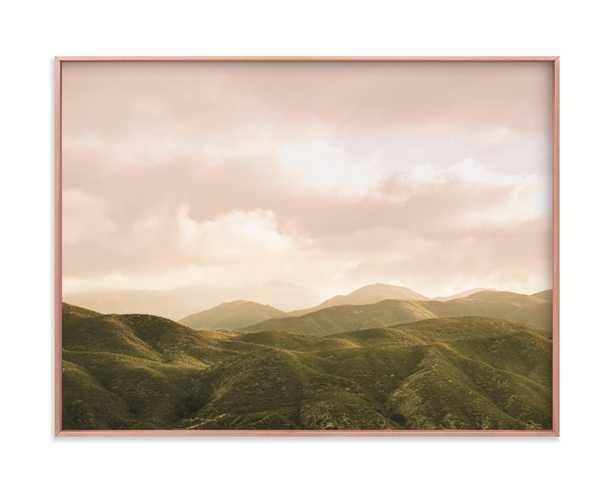 Hazy Mountain Hight- 24x18 matte copper frame - Minted