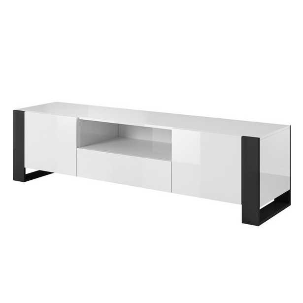 """Hingham TV Stand for TVs up to 85"""", Black legs - Wayfair"""