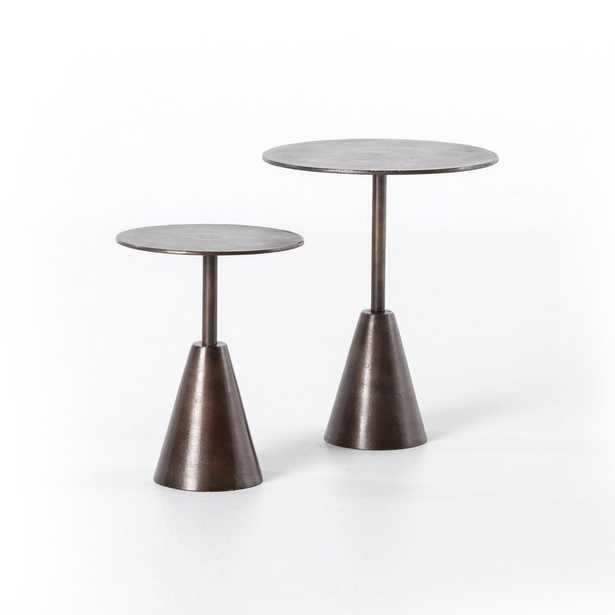 Set of 2 Frisco End Tables in Antique Rust - Burke Decor