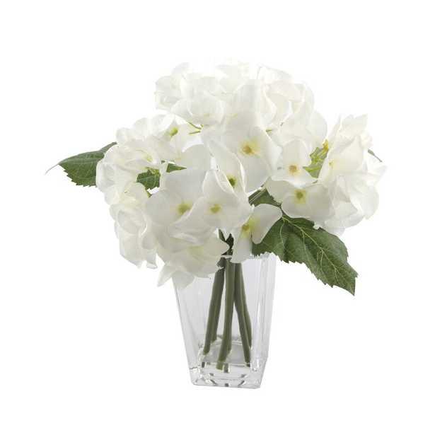 Hydrangeas Floral Arrangement and Centerpiece in Vase - Wayfair