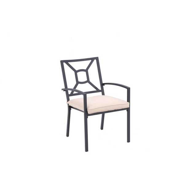 Skidaway Stacking Patio Dining Armchair with Cushion (Set of 2) - Wayfair