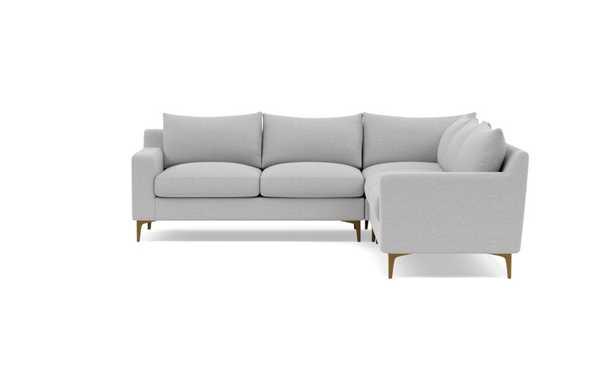 SLOAN Corner 4-Seat Sectional Sofa - Ecru - Interior Define