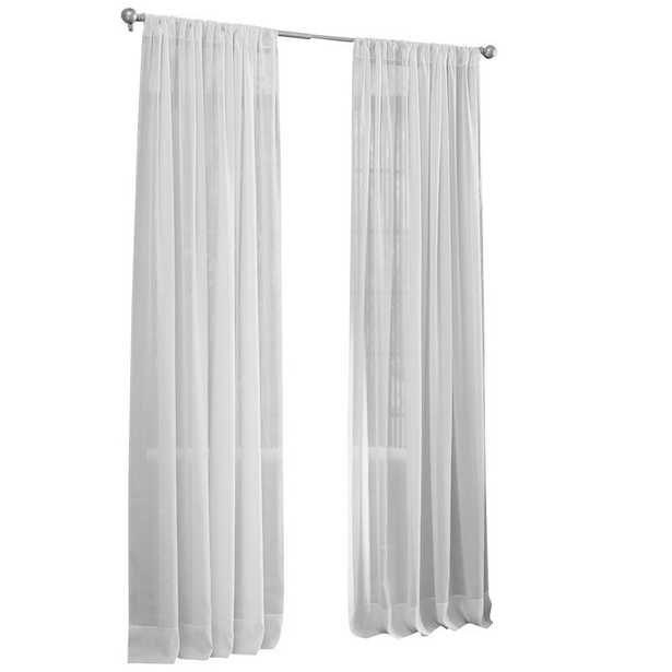 Moser Voile Solid Sheer Single Curtain Panel - Wayfair
