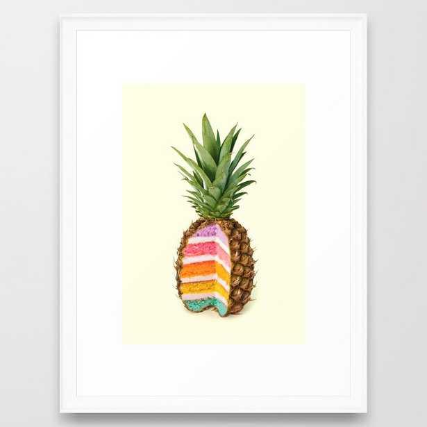PINEAPPLE CAKE Framed Art Print - Society6