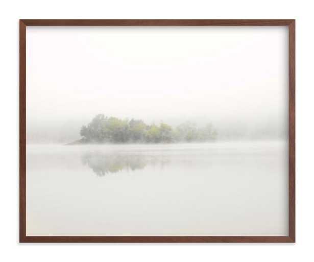 "The Island - Walnut Frame, 20"" x 16"" - Minted"
