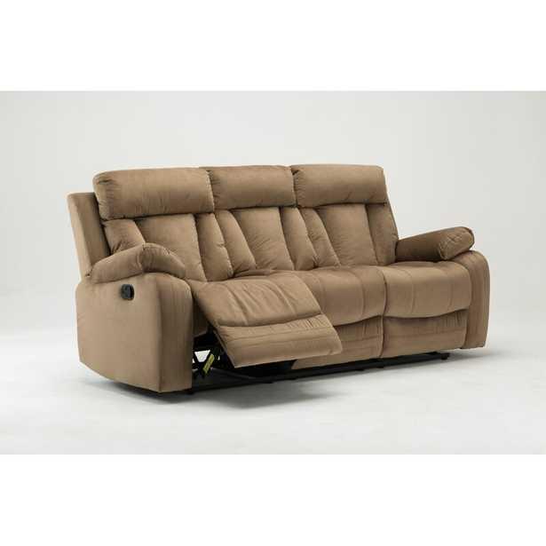 """Ullery Microfiber Reclining 84"""" Pillow top Arm Sofa - Wayfair"""