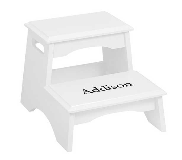 Step Stool, Two Step - Simple White - No Personalization - Pottery Barn Kids