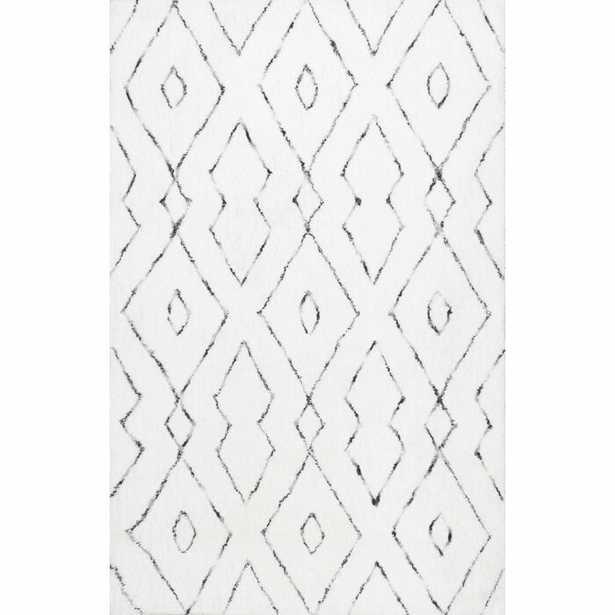 Peraza Geometric Handmade White Area Rug - Wayfair