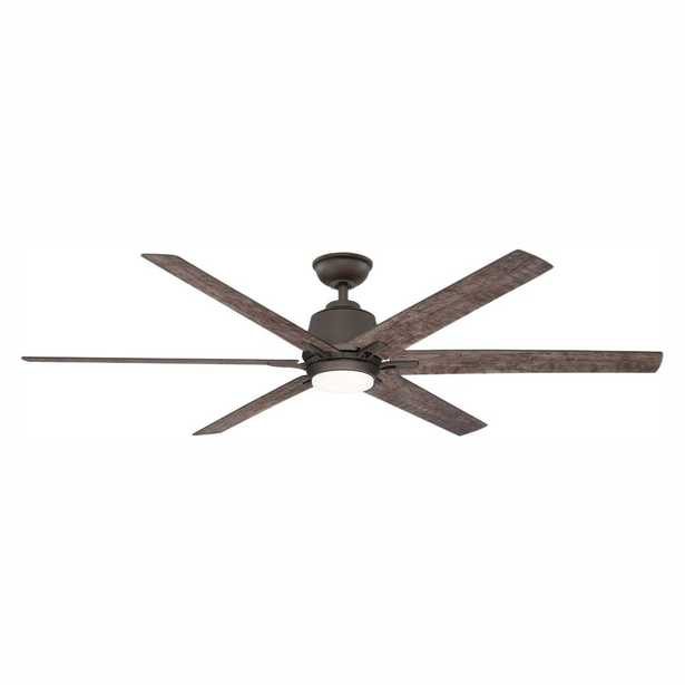 Kensgrove 64 in. LED Espresso Bronze Ceiling Fan with Remote Control - Home Depot