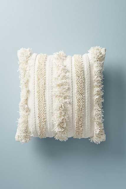 Textured Indira Pillow -20 x 20  - White - Anthropologie