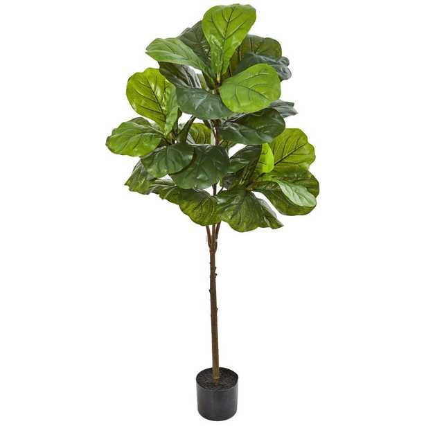 """54"""" Fiddle Leaf Artificial Tree (Real Touch) - Fiddle + Bloom"""