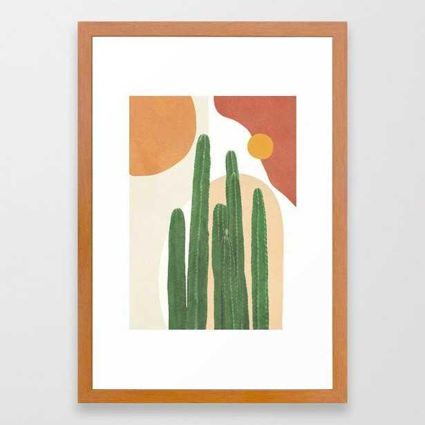 Abstract Cactus I Framed Art Print - Society6