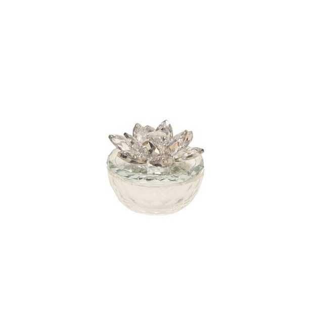 Holst Glass Trinket Lotus Top Decorative Box - Wayfair