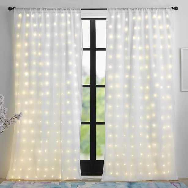 Fairy Light Sheer Curtain Panel - Pottery Barn Teen