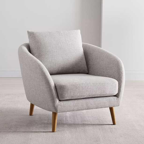 Hanna Chair, Performance Coastal Linen, Platinum, Almond - West Elm