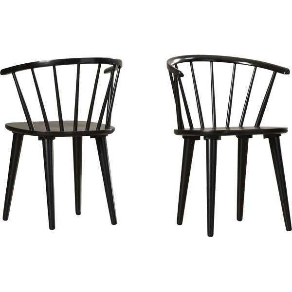 Alberta Side Chair - Black (Set of Two) - Wayfair