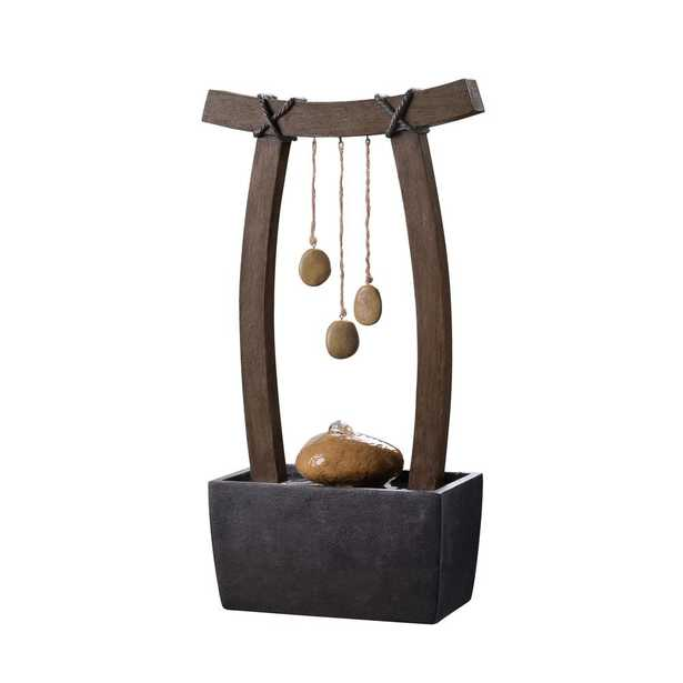Kenroy Home Reflection Resin Indoor/Outdoor Table Fountain - Home Depot