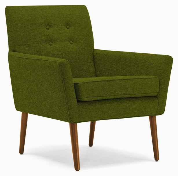 Burns Chair in Royale Apple with Mocha Wood Stain - Joybird