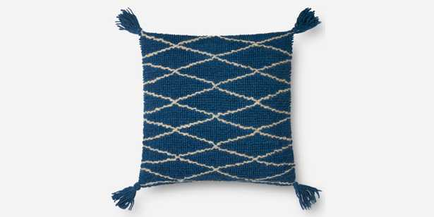 """PILLOWS - BLUE - 22"""" X 22"""" - with poly insert - Loma Threads"""