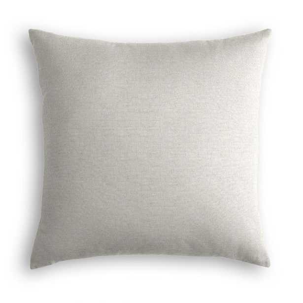 Sandy Tan Heathered Classic Linen Throw Pillow - Linen & Seam