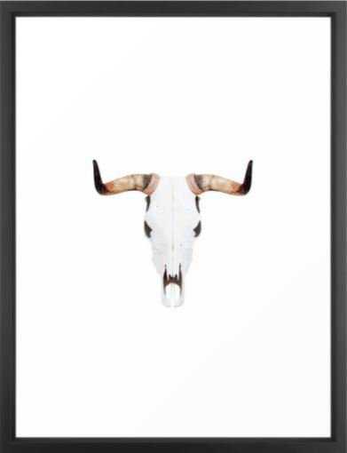 Bull Print, Buffalo, Bull art, Buffalo horns, Skull - Society6
