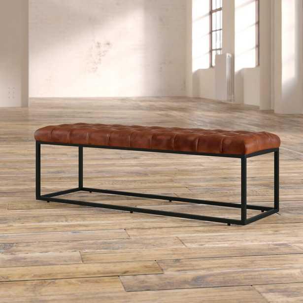Carroll Genuine Leather Bench - Wayfair