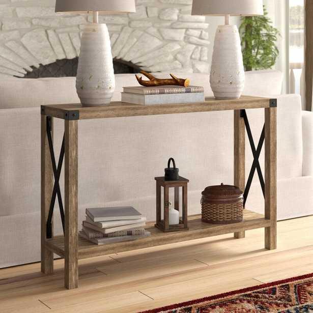 Arsenault Urban Console Table-Reclaimed Barnwood - Wayfair