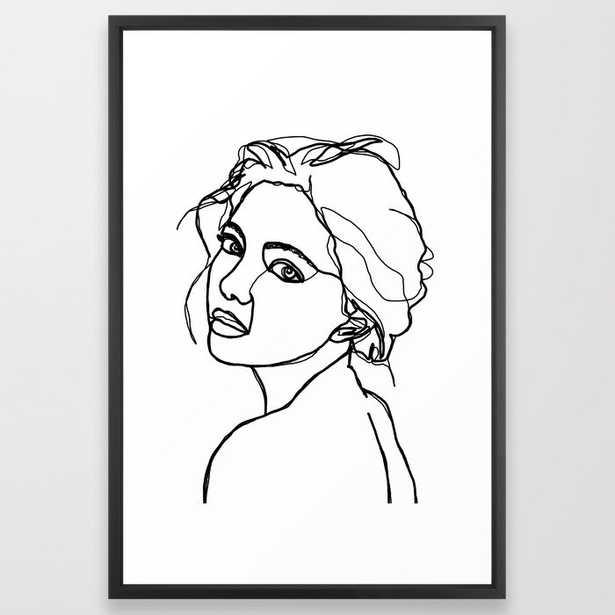 Woman's face line drawing - Adena Art Print - XLarge - Society6