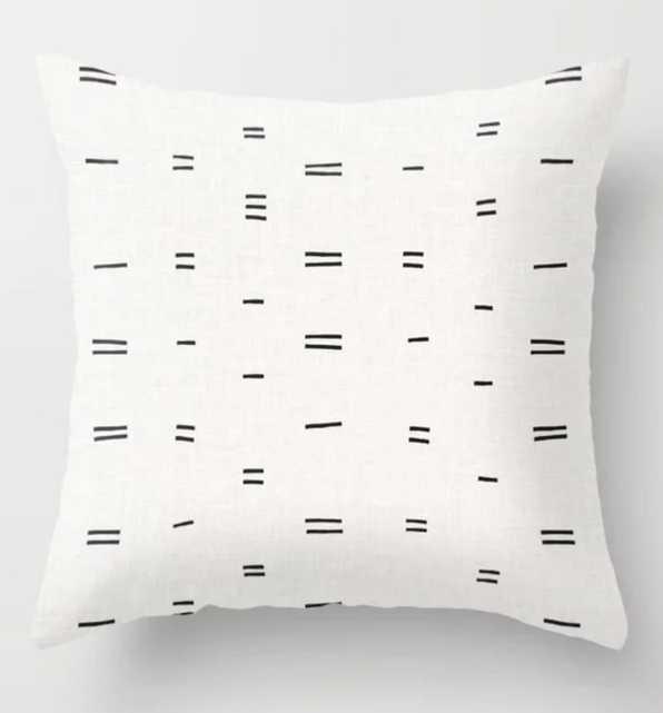 "Hammah Mudcloth Pillow 20"" Indoor - Society6"