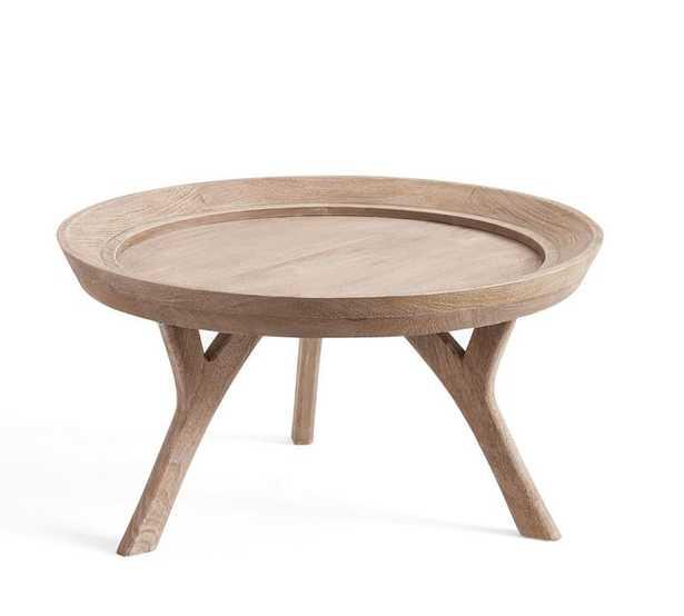 Moraga Round Wood Coffee Table - Pottery Barn