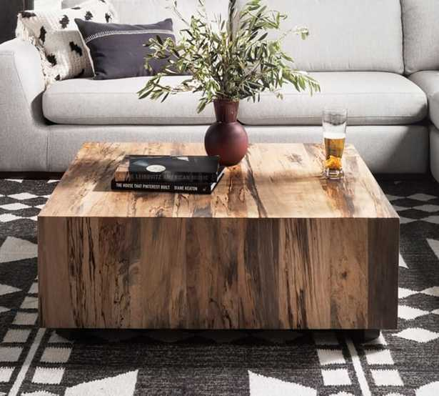 "Terri 40"" Cube Coffee Table - Pottery Barn"