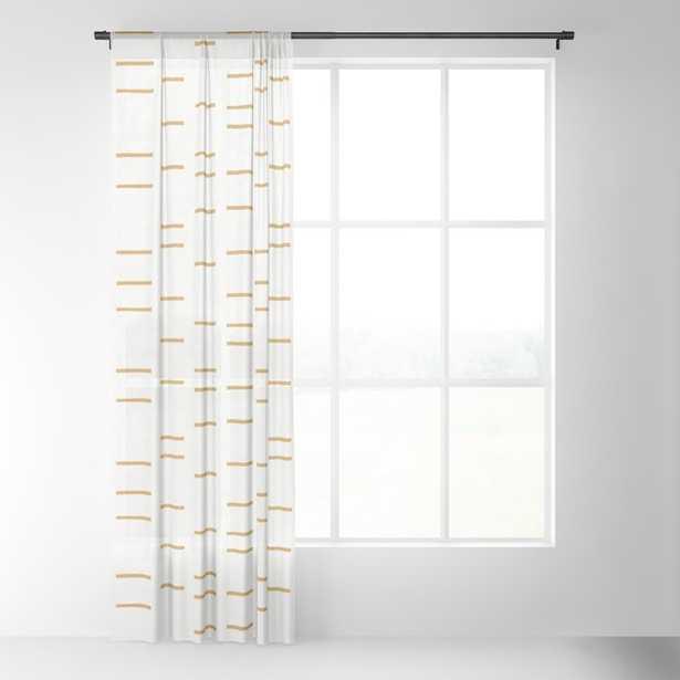 """OCHRE LINE Sheer Curtain - 96"""" - Society6"""