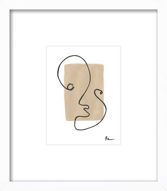 """Peep Hole by Polly Mann - """"Mannwear"""" - 8x10, White Wood Frame with Matte - Artfully Walls"""