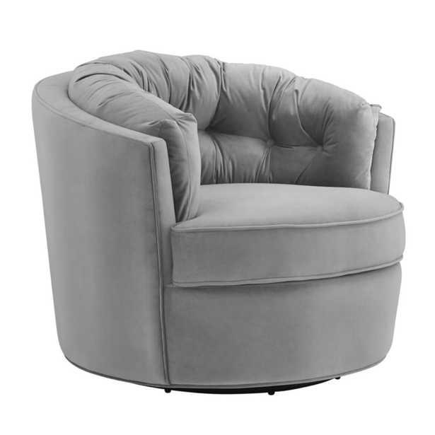 Ashley Morgan Velvet Swivel Chair - Maren Home