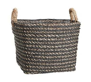 Asher Utility Basket, Charcoal/Natural - Pottery Barn