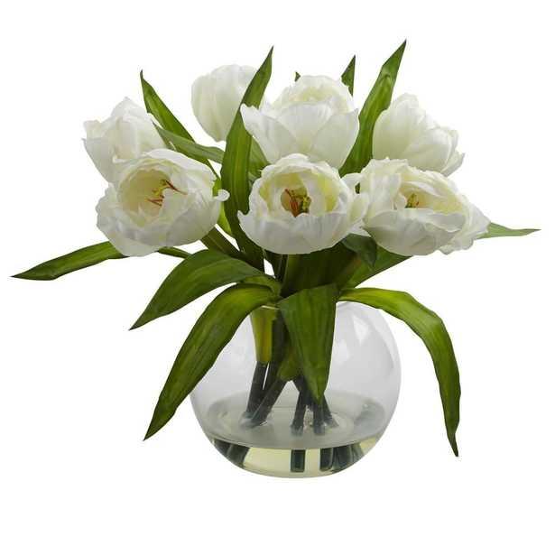 Tulips Arrangement w/Vase - Fiddle + Bloom