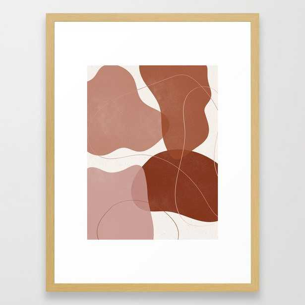 Abstract Shapes Burnt Orange 2 Framed Art Print - Society6