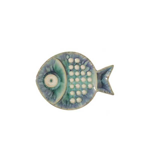 Blue Fish Plate Wall Décor - Small - Perigold