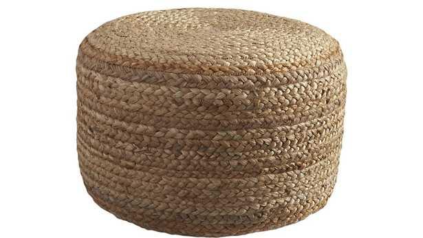 braided jute pouf - CB2
