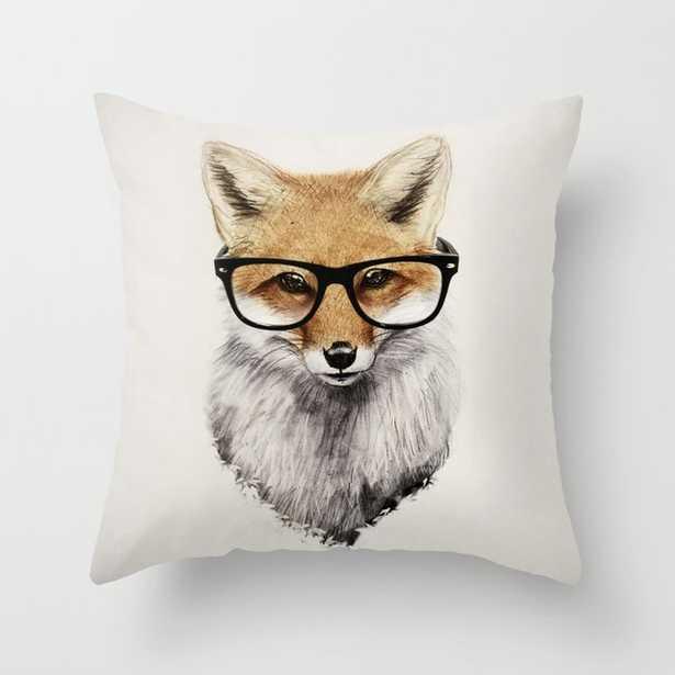 Mr. Fox Throw Pillow, 16x16 - Society6