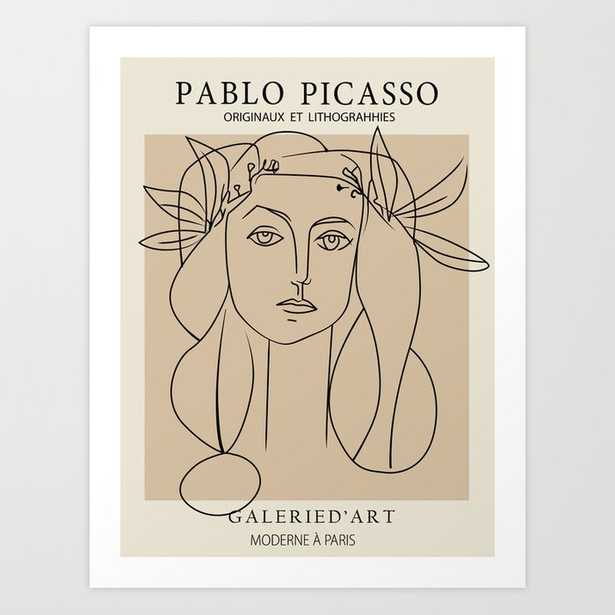 Picass Lady of peace Art Print - Society6
