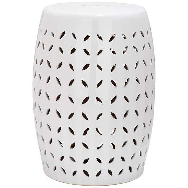 Safavieh Lattice Petal White Ceramic Garden Stool - Lamps Plus