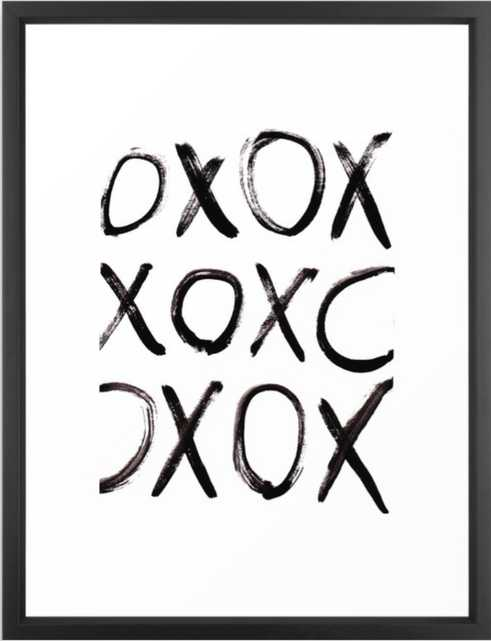 xo Framed Art Print -10x12 - Society6