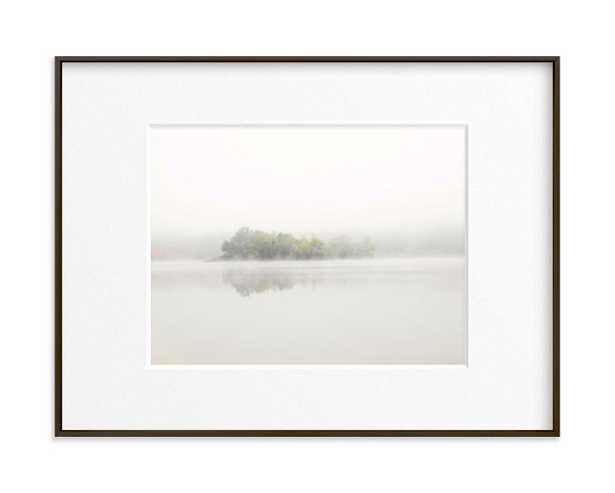 The Island - 24 x 18 - Matte Black Frame - Matted - Minted