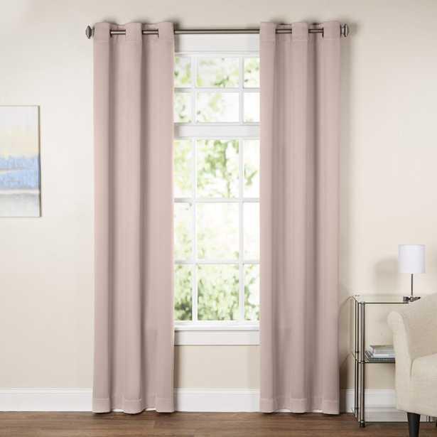 "Wayfair Basics Solid Blackout Grommet Single Curtain Panel - BLUSH - 84"" L - Wayfair"