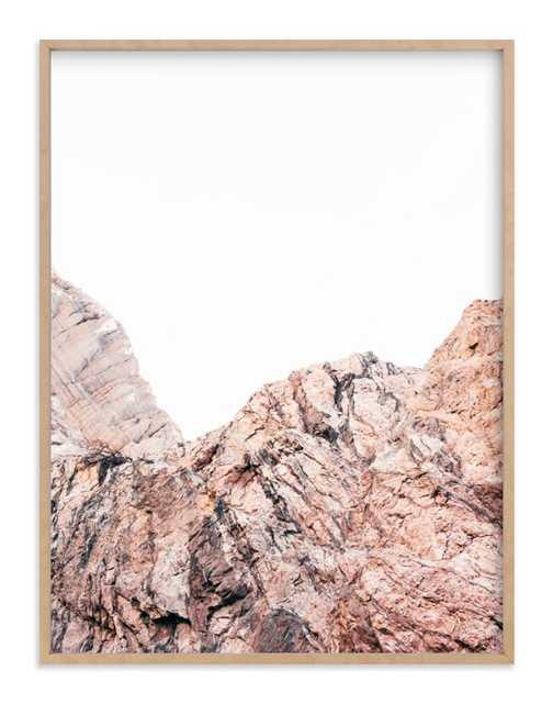 """Painted Canyon 1 Art Print // Art Print 30""""x40"""" // Natural raw wood frame .75"""" Art Print Frame // Frame Size: 31.5""""x31.5"""" - Minted"""