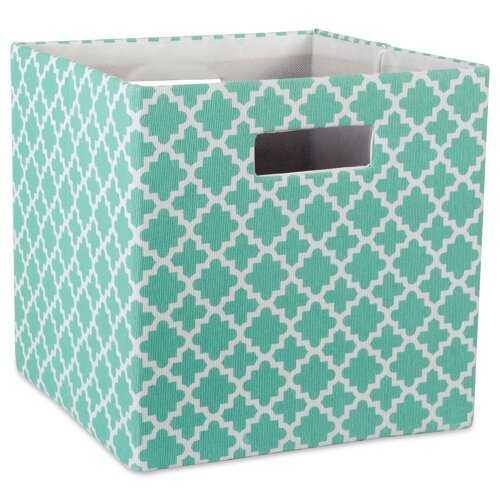 Cube Lattice Square Fabric Polyester Bin 11x11 - Wayfair