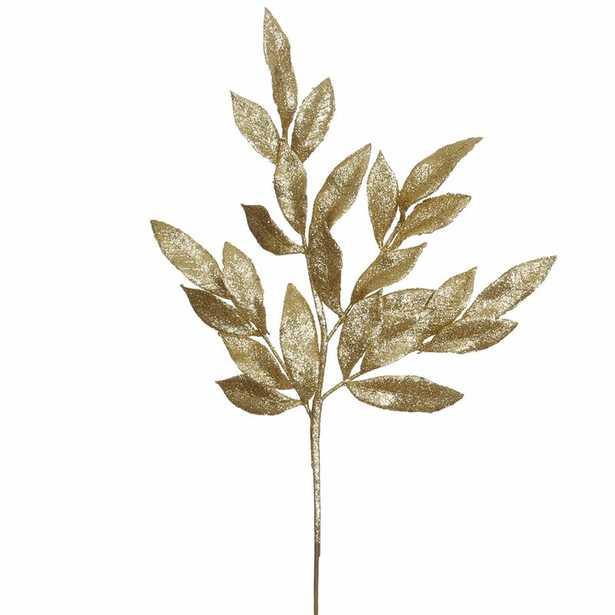 Glitter Bay Leaf Artificial Christmas Spray Stem Pick (set of 12) - Wayfair