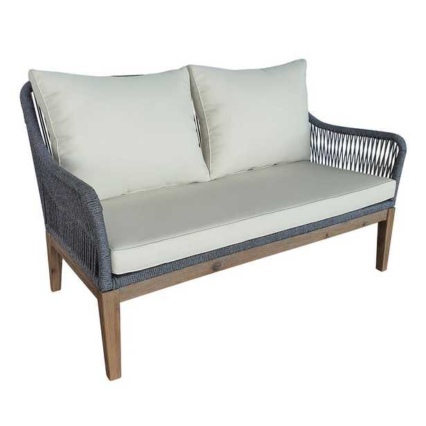 Arianna 55.12'' Wide Outdoor Loveseat with Cushions - Wayfair